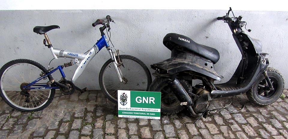 GNR recupera Bicicleta e scooter