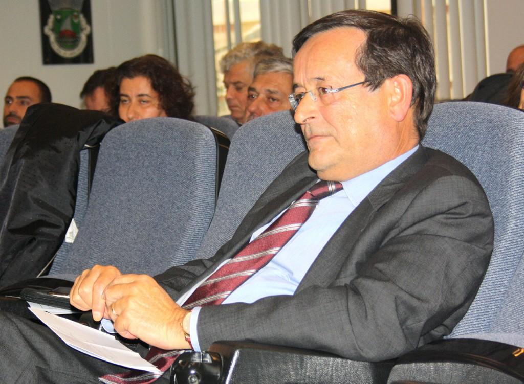 Carlos silva e Sousa na sessão de apresentação do risco de inundações