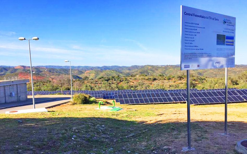 Central fotovoltaica na ETA de Tavira 1