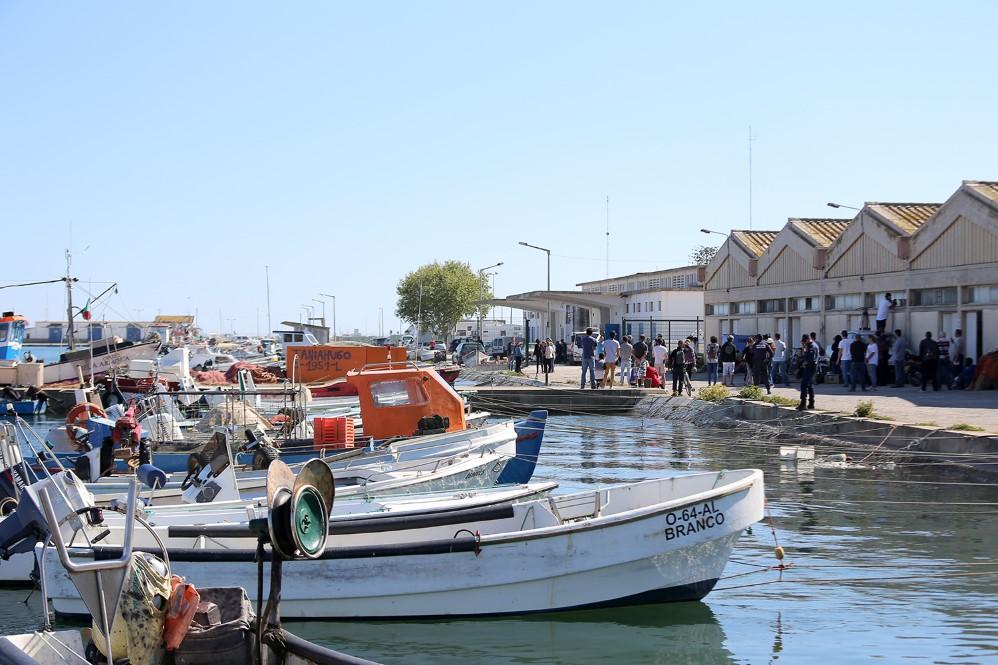 Porto de Olhão nas gravações da novela da SIC