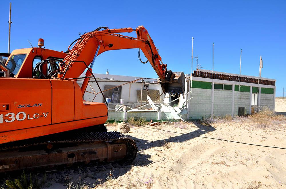 Demolições_Praia de Monte Gordo_Junho 2016_1