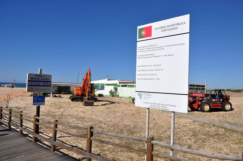 Demolições_Praia de Monte Gordo_Junho 2016_2