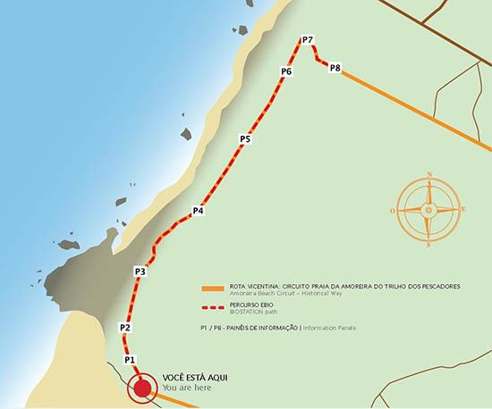 Estação da Biodiversidade (EBIO) da Praia da Amoreira_percurso