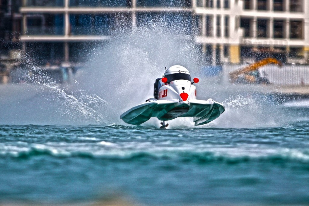 U.A.E. - Dubai, UIM F1H20 Grand Prix of Dubai. March 2-4, 2016. Race day Photo: Simon Palfrader/Idea Marketing - Free editorial use only.