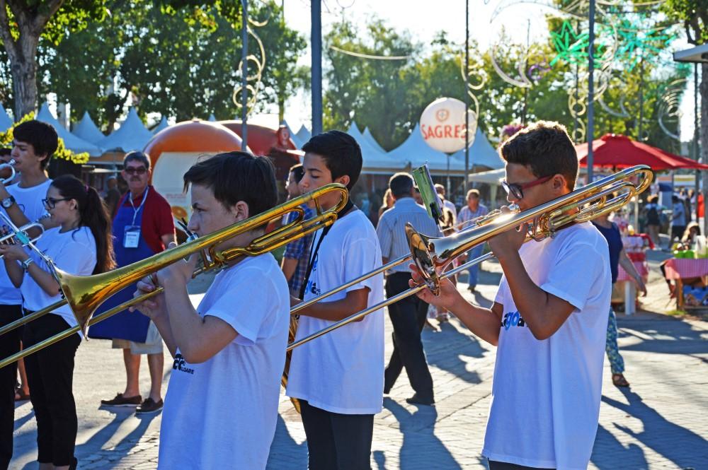 Jovens músicos de Lagoa