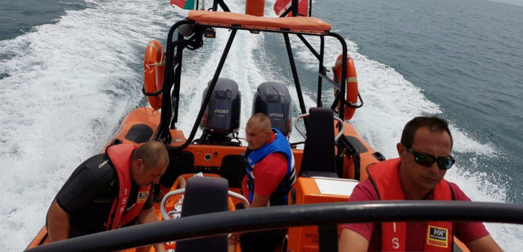 evacuação maritima na praia da marinha