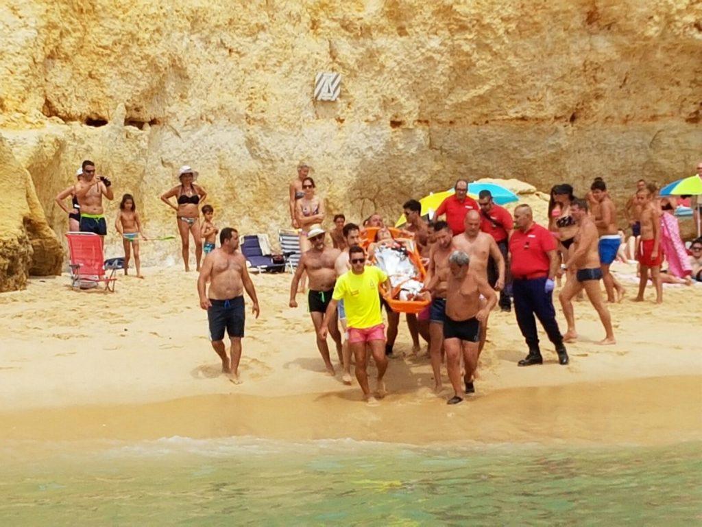 evacuação maritima na praia da marinha2