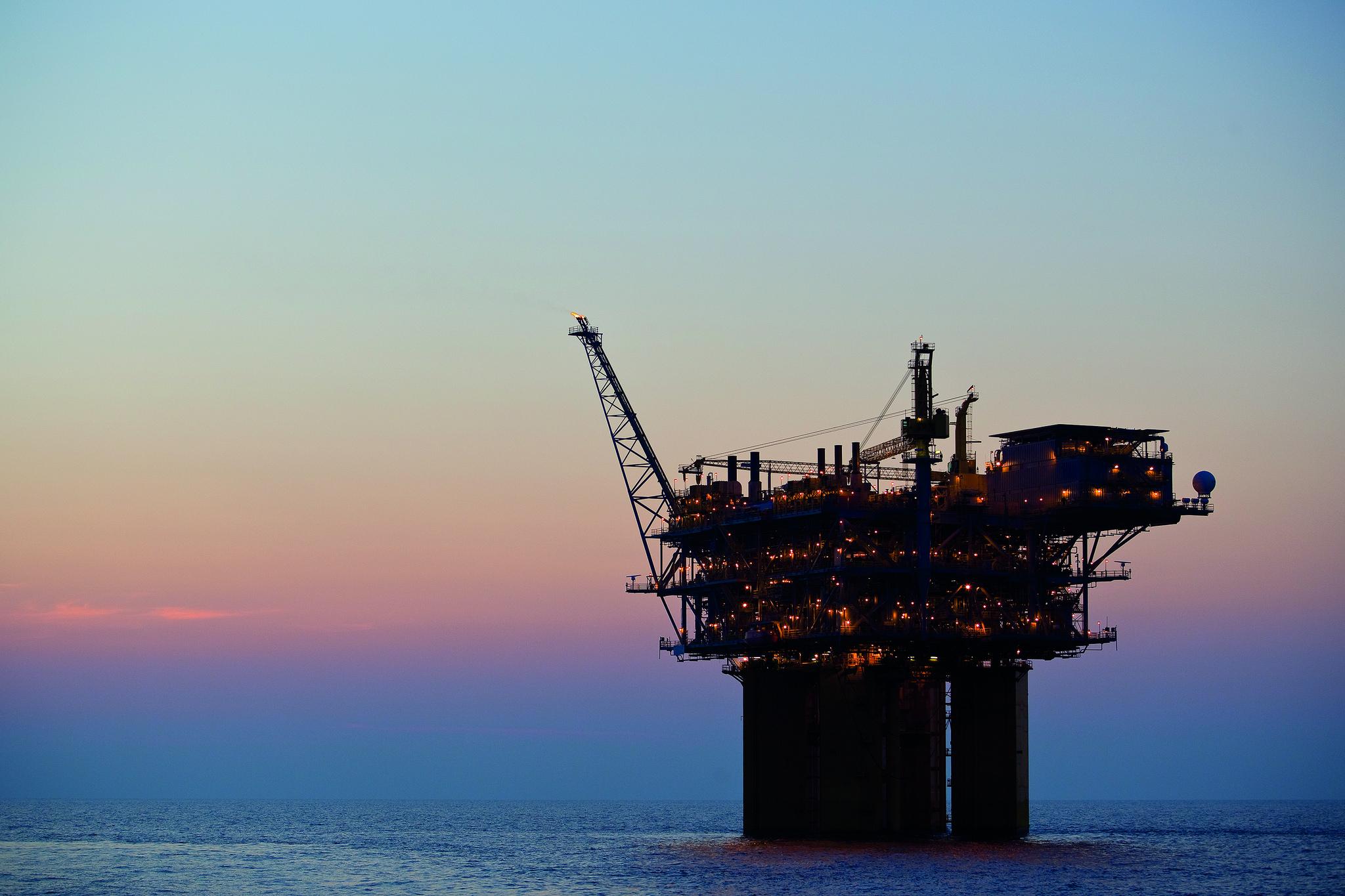 plataforma de exploração de gás e petróleo da Repsol