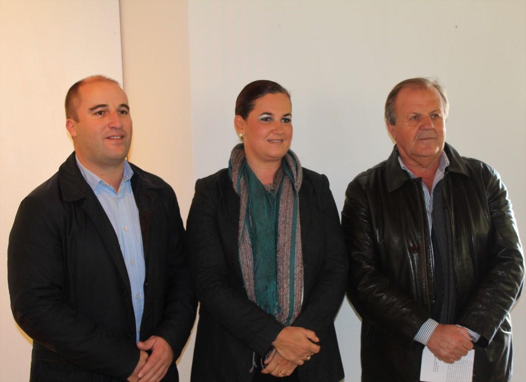 Adelino Soares, Alexandra Gonçalves e Desidério Silva