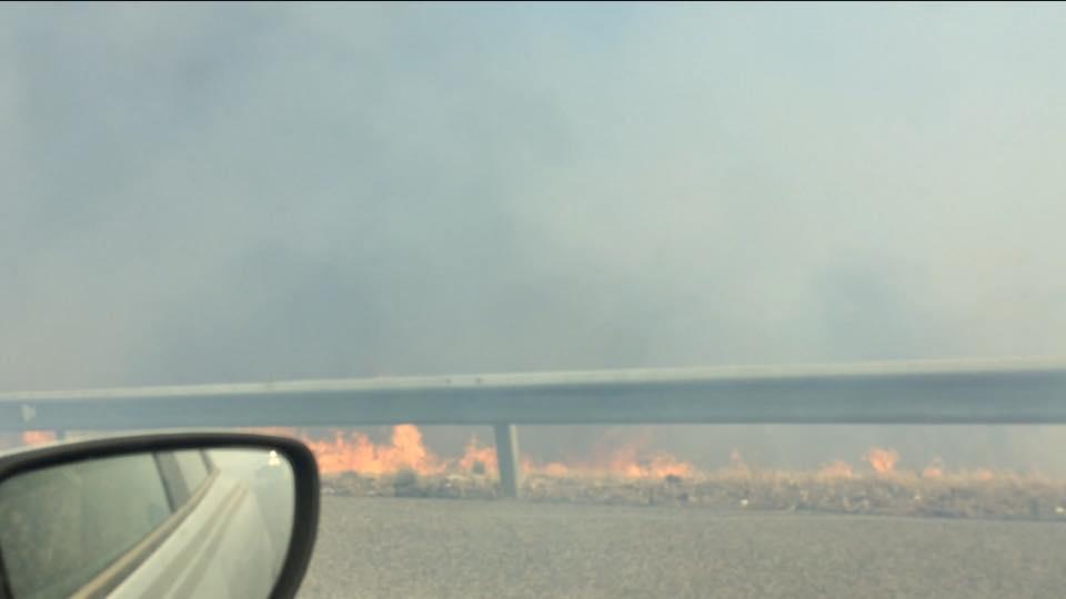 Incêndio obriga a cortar Via do Infante em Lagos