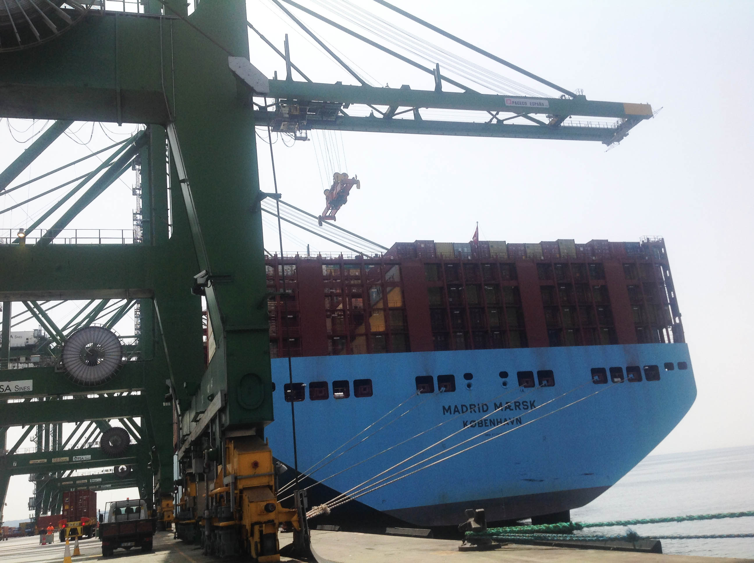 Madrid Maersk, one of the world's largest container ships