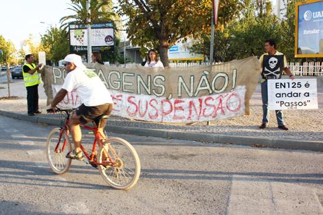 Ação de protesto da CUVI em Faro