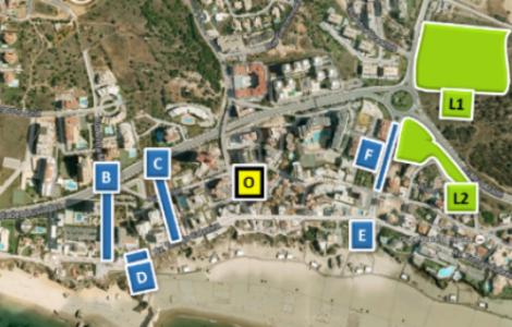 mapa da praia da rocha Praia da Rocha tem mais 1300 lugares de estacionamento este Verão mapa da praia da rocha