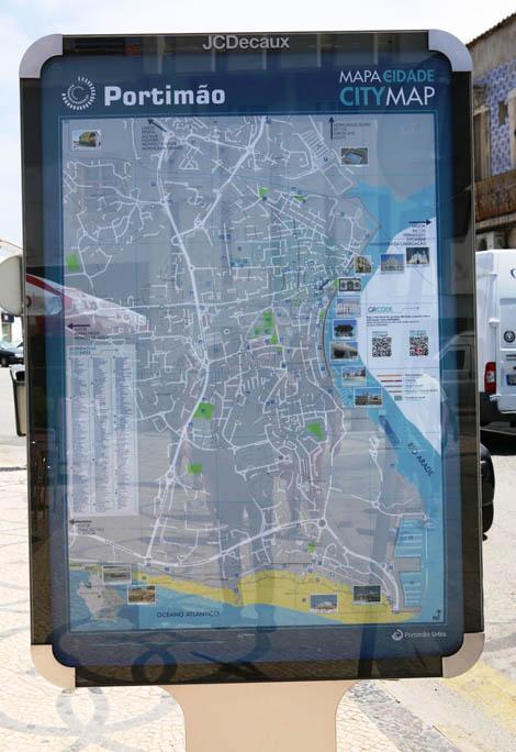 mapa das ruas de portimão Novo mapa da cidade de Portimão tem QR Code mapa das ruas de portimão